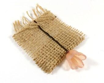 Peach flower hair pin, bobby pin, flower hair clip, Pastel peach flower clip, bridal hair, beach, travel, wedding accessory