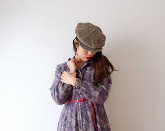 Lavender camouflage, Japanese vintage dress, S - M