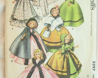 McCalls 2397 Doll Dress Centennial Wardrobe Vintage Sewing Pattern Size 20