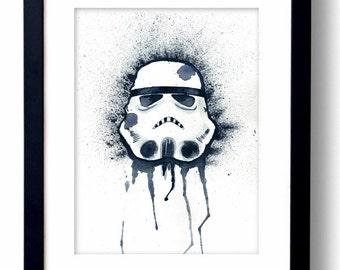 SALE - Storm Trooper Watercolor - Fine Art Print