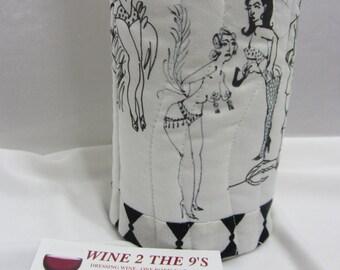 Burlesque Wine Bag Wine Tote UniqueWineGift StripTease sexy dancers Liquor Gift