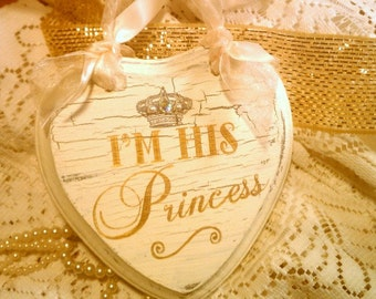 FAIRYTALE Wedding Sign Set, GOLD Wedding Crown, Crystals, Pearls Princess Sign Cinderella Wedding, Royal Wedding, Disney Wedding