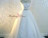 Stunning Fairytale Wedding Dress Princess Ballgown Style