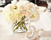 Antique White Table Numbers for Wedding and Events Wedding Decor for Wedding Table Centerpieces, Standing Numbers (Item - NUM115)