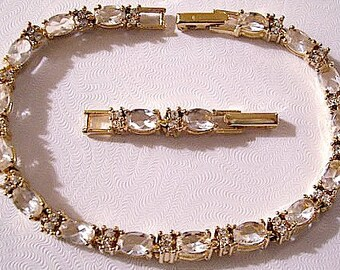 Vintage Avon Brown Stones Ring And Bracelet