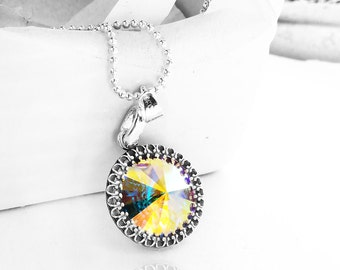Get 15% OFF - Round Crystal Necklace - Mother's Day SALE 2017