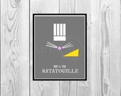 Digital Art: Disney Ratatouille, Movie Print, 8x10 Print, INSTANT DOWNLOAD
