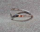 Knuckle Ring,  Midi Ring, Chevron  Sterling Silver Ring