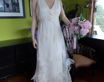 Wedding dress Fairy Hippie boho woodland CHiC English Tulle Floral Gown bridal gown