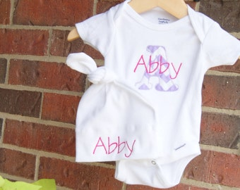 Personalized Onesie / Baby Gift / Custom Onesie / Twins / Baby Beanie