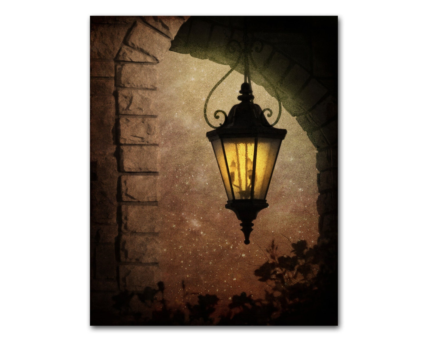 Wall Decor Lamp : Wrought iron lamp wall art tuscan decor by