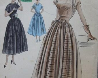 Fabulous Vintage 40's Misses VOGUE SPECIAL DESIGN Dress Pattern