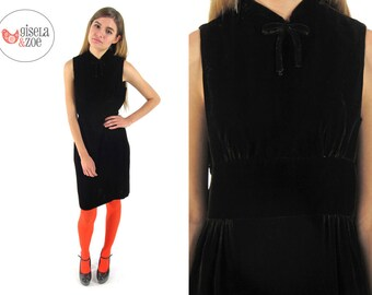 Vintage 60s Brown Velvet Dress / 60s Sheath / Vintage 60s Dress • md