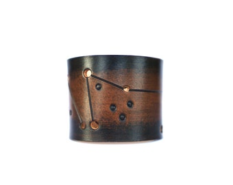 leather cuff Capricorn constellation