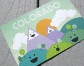 Mountain Folk Colorado Postcard