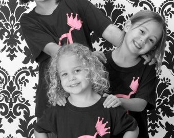Children's Custom Initial T-Shirt or Onesie with Crown