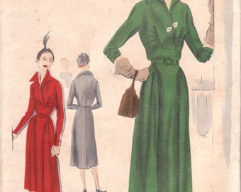 Unusual 1950s Dress Pattern Vogue S-4142 Bust 42
