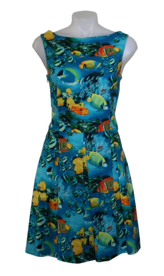 Swordfish Hotkiss Swing Dress, Finding Nemo, Spring, Summer Circle Dress- Size 14 Only - Free Worldwide Shipping