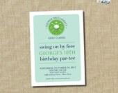 golf birthday party invitation - golf party