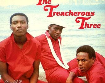 the TREACHEROUS THREE Self Titled 1984 Vinyl Lp Record Album Old School RAP Hip Hop Factory Sealed Sugar Hill