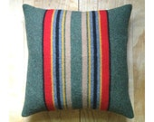 Pillow - Pendleton Wool Fabric ... Yakima Camp Blanket Rustic Cabin - RobinCottage