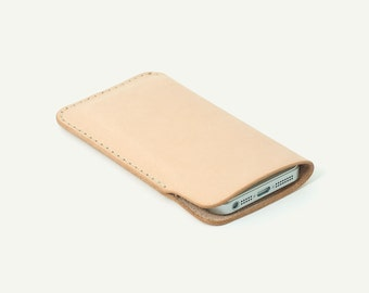 Natural leather iPhone sleeve. best iphone cases coolest iphone cases leather case iphone pouch best iphone case iphone cover leather