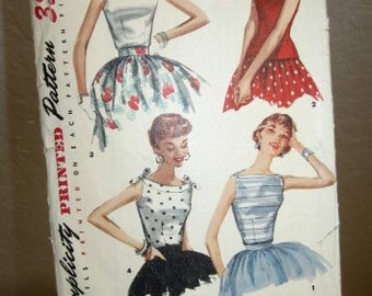 """1950's """"Simplicity"""" Sewing Pattern- Misses' Blouse - Size 12"""