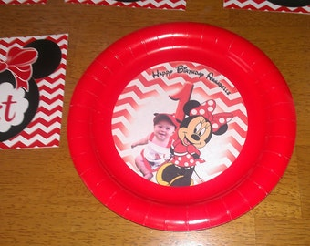 Minnie Mouse birthday plates