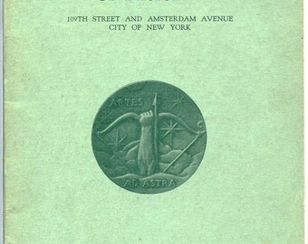 NATIONAL ACADEMY of DESIGN, 1931-1932, Brochure, Schedule, Historic New York City Art School