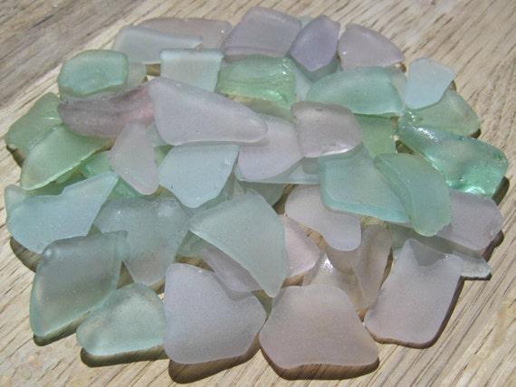 Bulk Sea Glass -  Purple, Aqua, Light Blue, Seafoam - DIY Beach Wedding Supplies
