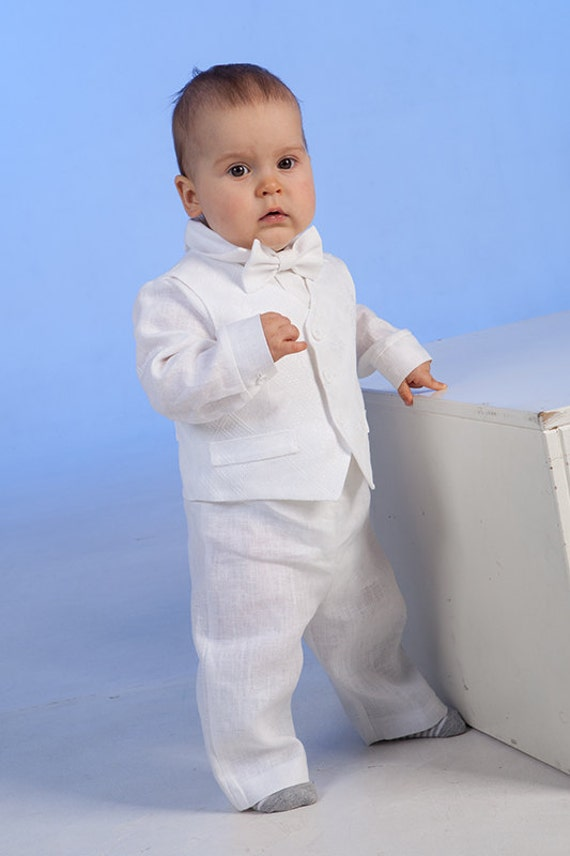 Baby junge taufe outfit ringtr ger outfit leinen kleidung f r - Taufe outfit junge ...