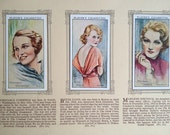 An Album of Film Stars, cigarette cards book John Player and Sons, IMPERIAL tobacco company, book number 8654, collectable
