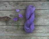 Linen crochet Thread skein in  purple color