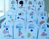 15 Fish jewel favour boxes -  birthday/baby shower favours - table decorations - ocean treat boxes - fish themed - under the sea