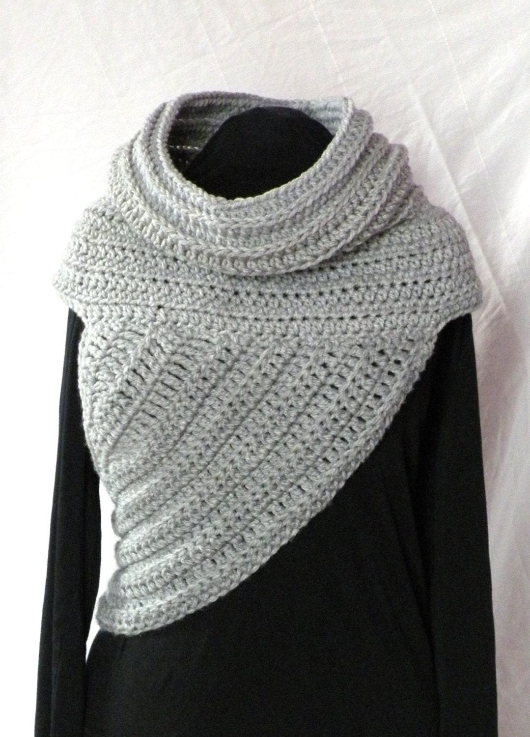 CROCHET PATTERN Huntress Cowl Shawl Asymmetrical Crossbody