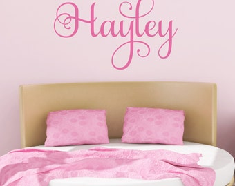 Name Decal - Baby Girl Nursery - Teen Girl Name Decals - Personalized Kids Decal - Children Monogram Decals - Nursery Decor