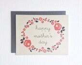 Mother's Day Card. Card For Mom. Floral Roses Blank Mother's Day Greeting Card. Item # 153