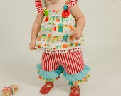Baby Girls Outfit,  Beach Cabana outfit, Girls Photo Prop, Baby Girls clothing, Fun in the Sun at this girls 1st Birthday/MYSWEETCHICKAPEA
