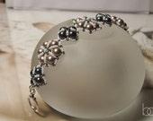 Tutorial Sibyl Bracelet, easy bracelet beading pattern, vintage style bracelet, DIY, PDF