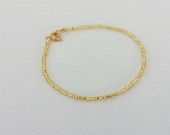 Gold bracelet, sparkly bracelet,shimmery gold,seed bead bracelet,friendship bracelet, gold minimalist bracelet,minimalist,,beaded bracelet