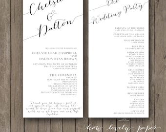 Printable Wedding Program - the Chloe collection