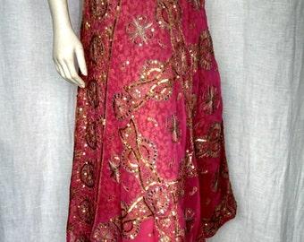 Vintage 70's Gypset Embellished Skirt