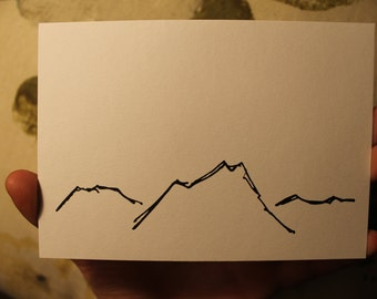Mountains and Valleys postcard prints (set of four)