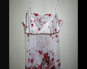 Size L Slip/Dress with Roses
