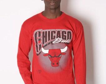 Vintage Chicago Bulls Sweatshirt - Chicago Bulls - NBA Basketball - Bulls Sweatshirt- 0634s