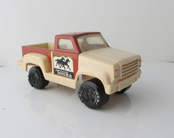 Tonka Pick Up Truck Horses Brown Vintage 1970s Toy