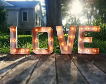 """12"""" Plug in LOVE Light-up Marquee Sign"""