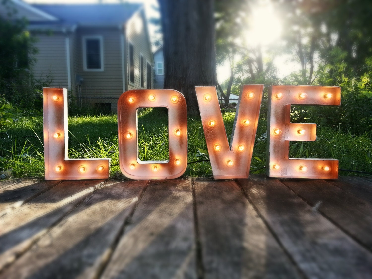 12 plug in love light up marquee sign for Love sign