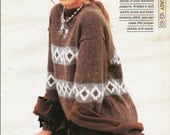 """Knitting pattern - Woman's """"Earth works"""" pullover sweater jumper top - Instant download"""