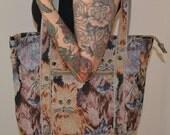 30% OFF RAD Vtg Crazy CAT Lady Tapestry Tote Handbag